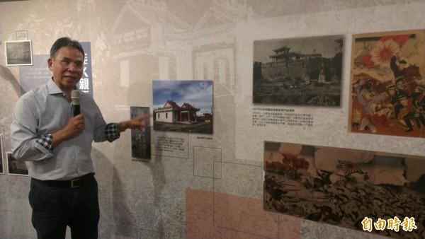 中研院台史所長謝國興表示,乙未年有很多民兵抗日,但也有人雙手歡迎日本統治,歷史是多元的,要從原始資料去解讀,而非來自教科書。 (記者湯佳玲攝)