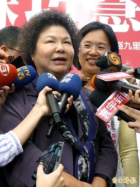高雄市長陳菊說,台灣之所以有今天,是很多人共同努力,沒有單一的個人可以居功。(記者張安蕎攝)