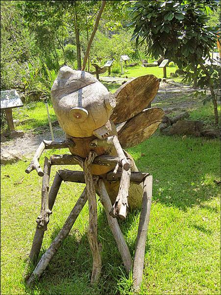 興大惠蓀林場將舉辦「木文化節」,包括利用木資源變身生態木雕等展示。(圖由興大提供)