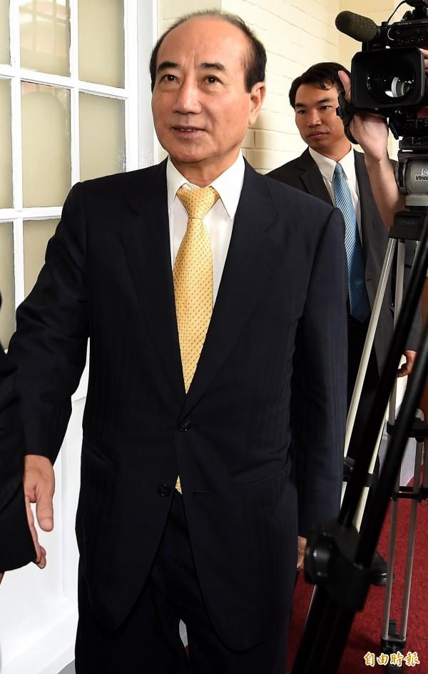 前總統李登輝日前受訪時表示立法院長王金平未來可能會是國民黨主席,王金平今日回應表示,「那是他的想法,我們給予尊重」。(記者朱沛雄攝)