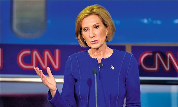 惠普前執行長費奧莉娜表現出色,被認為是辯論贏家。(美聯社)