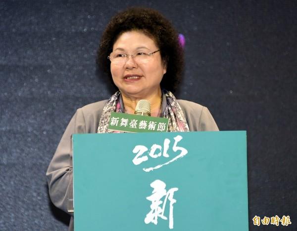 陳菊接受專訪時表示,她看不出洪秀柱要帶給台灣哪種共識,她甚至認為洪秀柱能不能參選到底都還有變數,要談洪秀柱到底走什麼路線,還言之過早。(資料照,記者潘少棠攝)