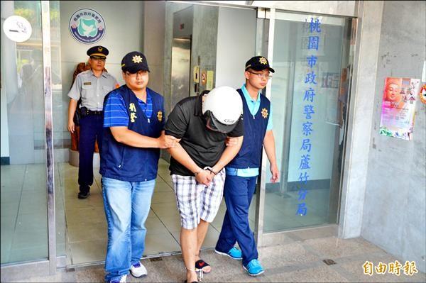 劉姓男子涉嫌性侵小二男童,被警方移送法辦。(記者謝武雄攝)
