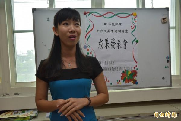 越南籍潘玉女有屬於自己的台灣夢。(記者朱則瑋攝)