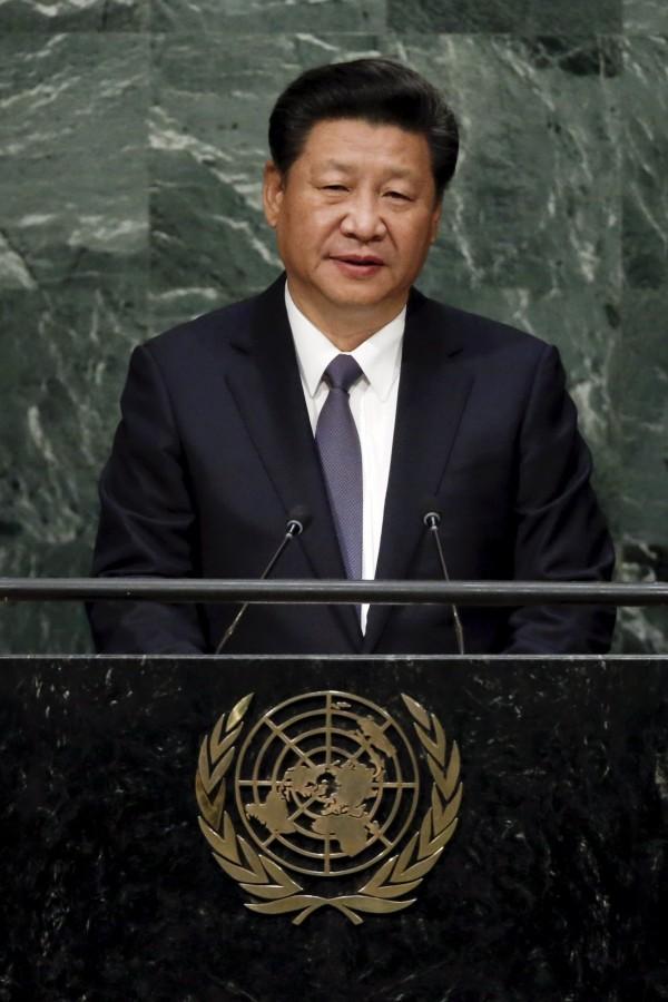 中國國家主席習近平26日到聯合國發表演說。(路透)