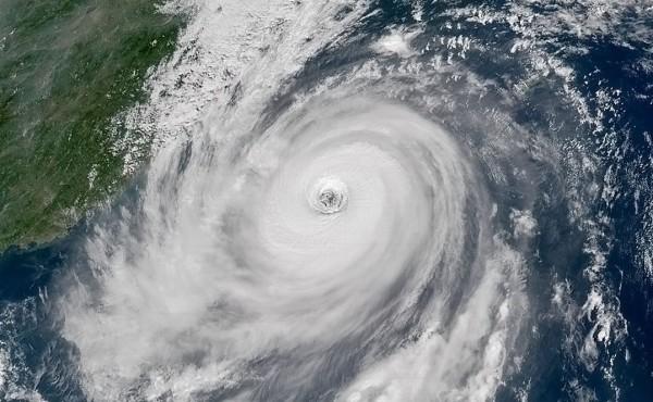 強烈颱風杜鵑襲台。(圖取自推特)