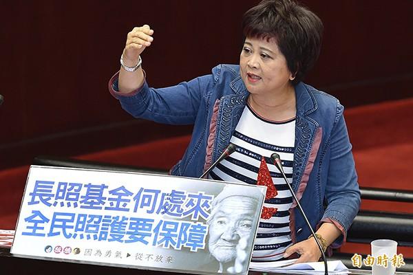 國民黨立委江惠貞昨呼籲,黨內高層應該趕快坐下來把事情談好,不然區域立委在地方上跑得辛苦,「都要沒命了」。(資料照)