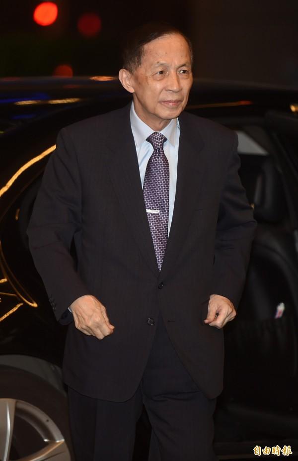 前省議會議長高育仁批拱朱選總統是可笑傳言。(資料照,記者簡榮豐攝)