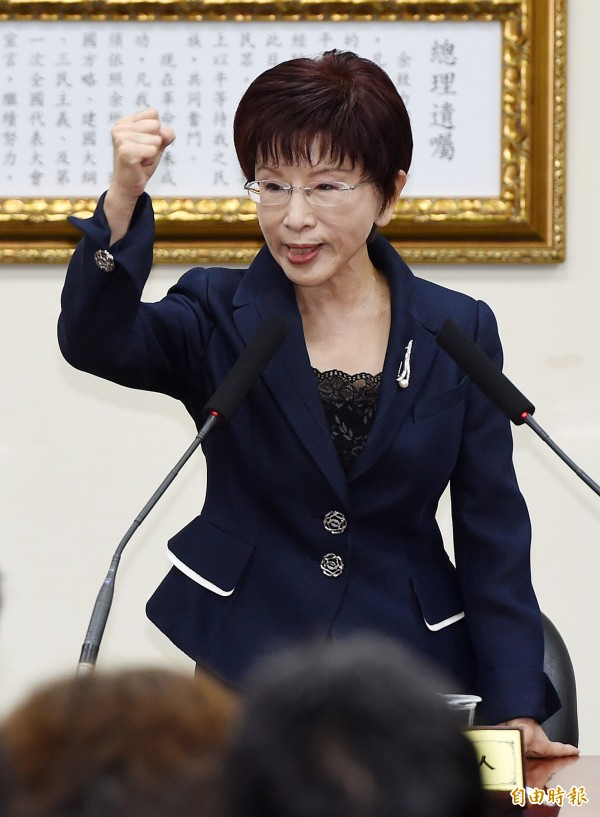 國民黨總統參選人洪秀柱。(資料照,記者廖振輝攝)