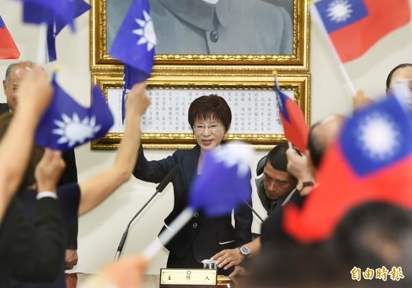 洪秀柱已經擇定10月25日台灣光復節當天,同步成立全國22縣市競選總部。(資料照,記者劉信德攝)