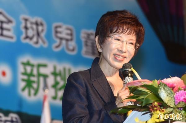 國民黨總統候選人洪秀柱回絕黨內「換柱」要求,她表示「現在退選,會讓我祖上蒙羞。」(資料照,記者廖耀東攝)