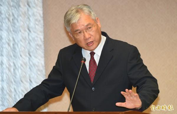 陸委會主委夏立言今天(10/1)赴立法院備詢。(記者張嘉明攝)