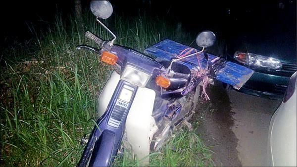 69歲蔡婦負傷所騎的車。(記者王涵平翻攝)