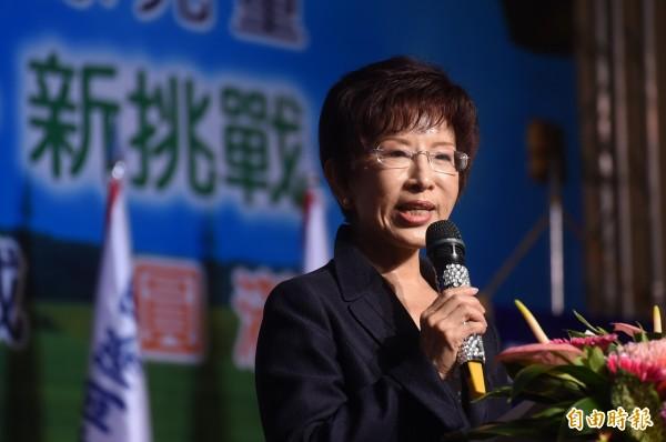 國民黨總統參選人洪秀柱強調,中華民國憲法的內容,就是主權及於大陸地區,而我們目前沒能力統一大陸,只能讓台灣成為三民主義的模範。(資料照,記者廖耀東攝)