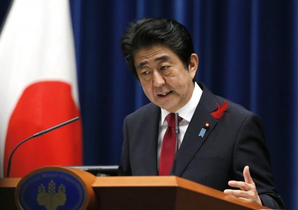 日本首相安倍晉三今天表示,TPP是日本國家百年大計,他也認為,若中國能加入,戰略上有極大意義。(美聯社)