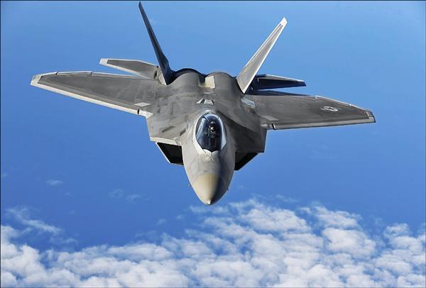 美軍F-22戰機。(路透資料照)