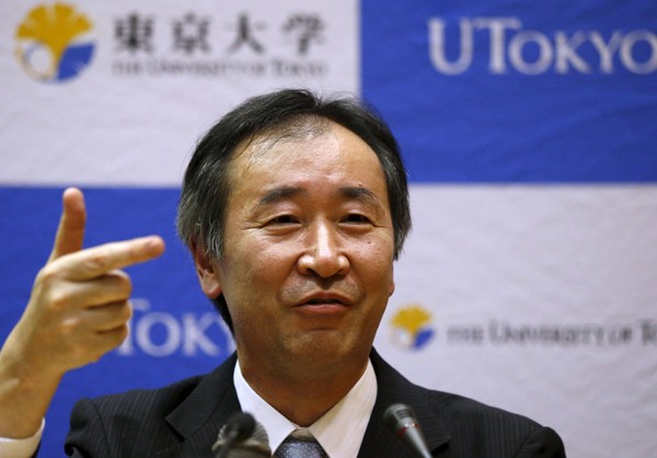 發現「微中子振盪」的梶田隆章獲頒今年諾貝爾物理學獎。(路透)