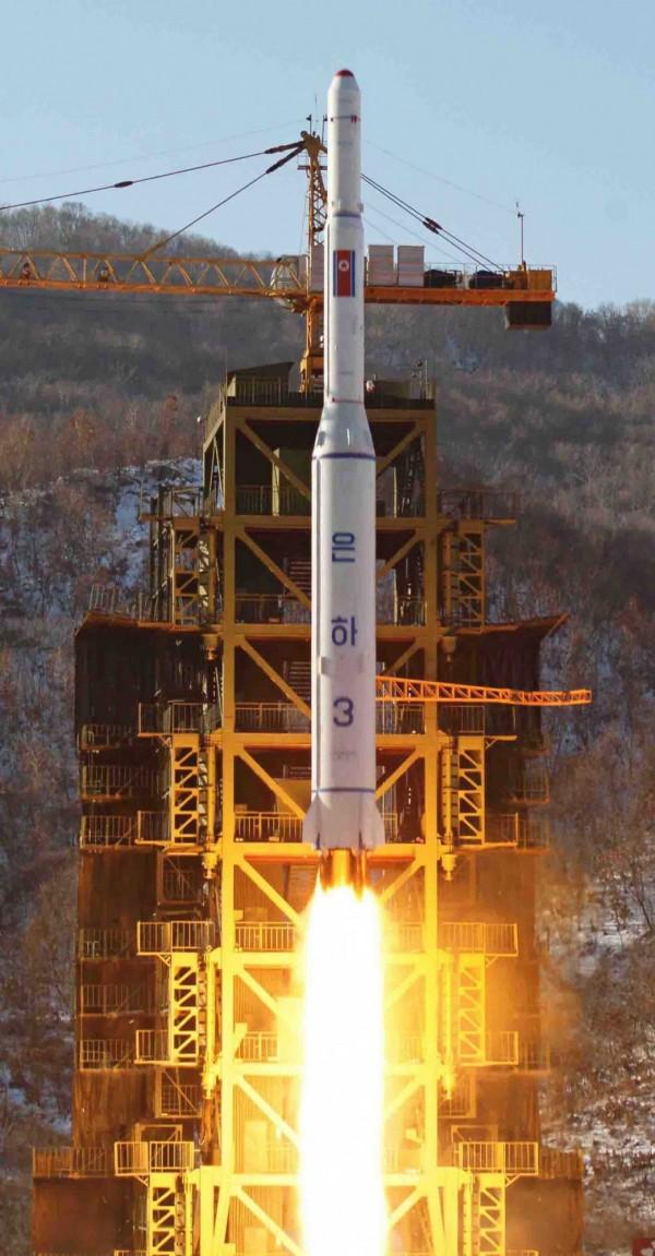 上月北韓宣佈發射新衛星,也顯示北韓有能力發展彈道飛彈。(資料照,歐新社)