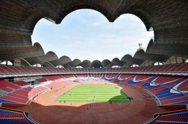 平壤的五一體育場(May Day stadium)。(圖取自推特)