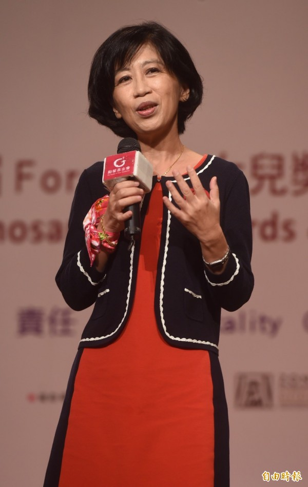 第十三屆Formosa女兒獎暨第三屆亞洲女孩獎11日舉行頒獎典禮,台北市長夫人陳佩琪出席致詞。(記者簡榮豐攝)