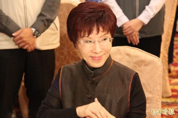 國民黨總統參選人洪秀柱。(記者林欣漢攝)