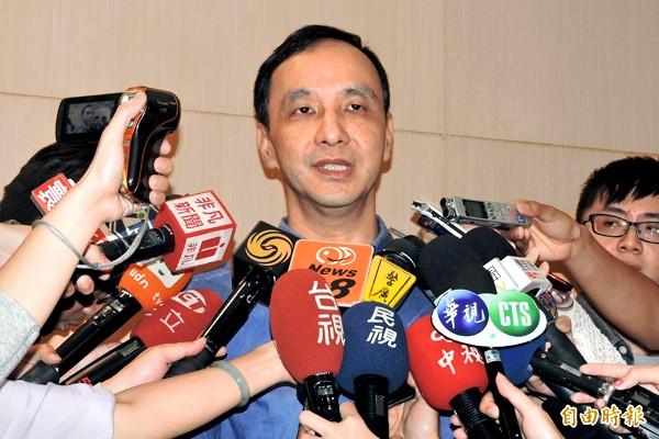 朱立倫表示,臨全會將向洪秀柱正式道歉。(記者賴筱桐攝)