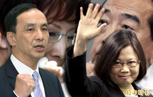 2016總統大選台灣指標民調公布最新民調。(本報合成)