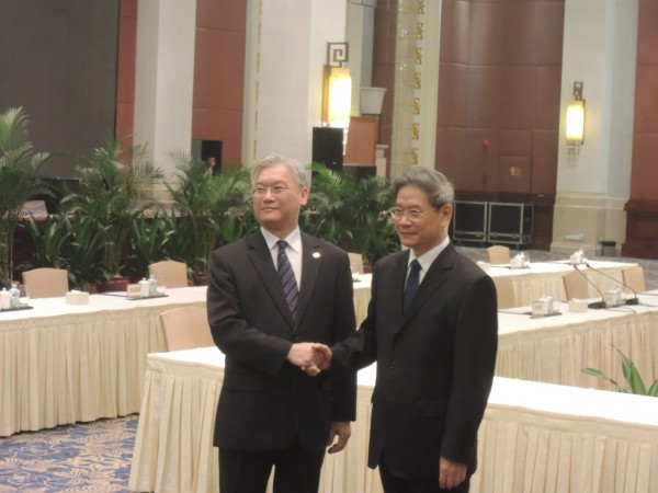 「夏張會」昨日在中國廣州達成「年底前完成貨貿談判」結論。(資料照,記者彭顯鈞攝)