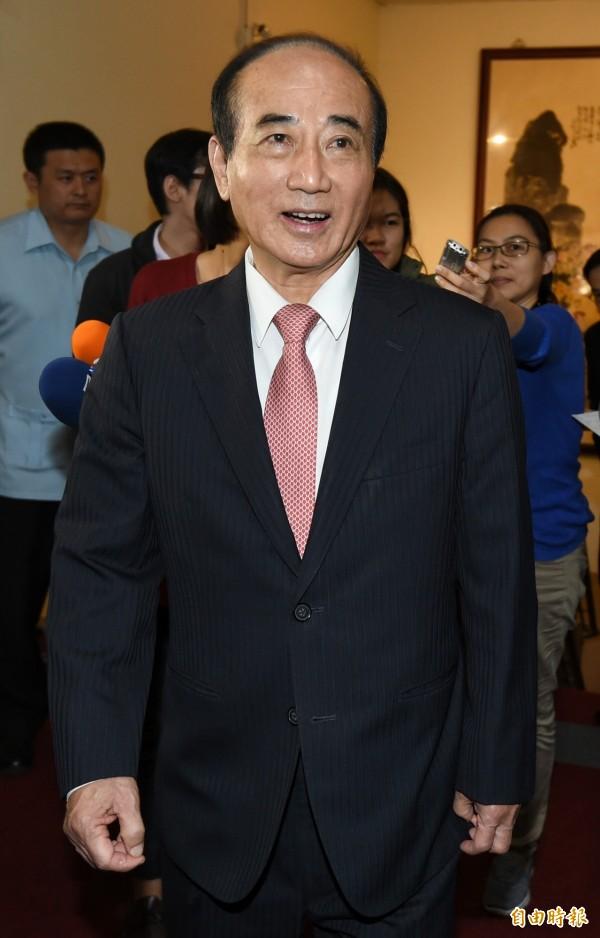 王金平今天表示,以前也沒聽說朱可能上場,但週一已感受得出來。(資料照,記者廖振輝攝)