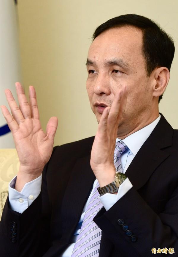 政大教授陳芳明直指,國民黨主席朱立倫(圖)搞不清楚蔡英文維持現狀的內容。(資料照,記者羅沛德攝)