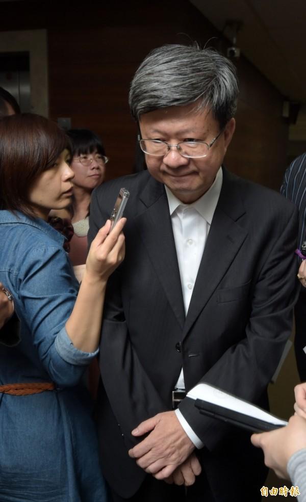 教長吳思華冷回應林母的指控。(記者王敏為攝)