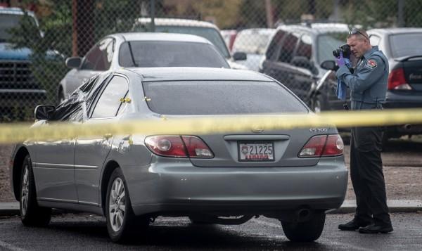昨日在美國新墨西哥州阿布奎基市的40號州際公路上,發生4歲女孩被因行車糾紛被槍殺的悲劇。(美聯社)