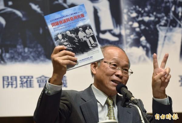 台灣省政府主席林政則今天表示,如果省府有在為省民做事,就希望省府能存在。(記者劉信德攝)