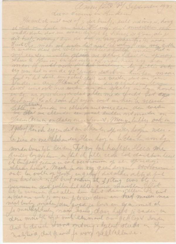 一封在二戰時期寫下的訣別家書,在歷經約71年後,終於在本週四被遞送到目前已高齡92歲的荷蘭老翁伯特手上。(圖擷自International Tracing Service)