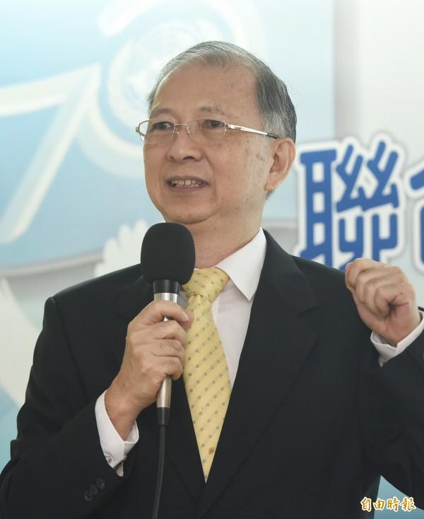 政治大學台灣史研究所教授陳文賢在會中發表專題演講。(記者廖振輝攝)