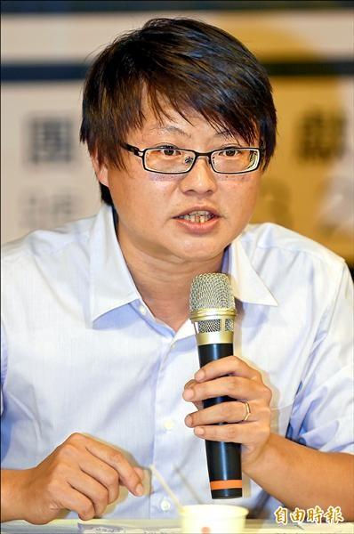 基進側翼政團主席陳奕齊(資料照,記者劉信德攝)