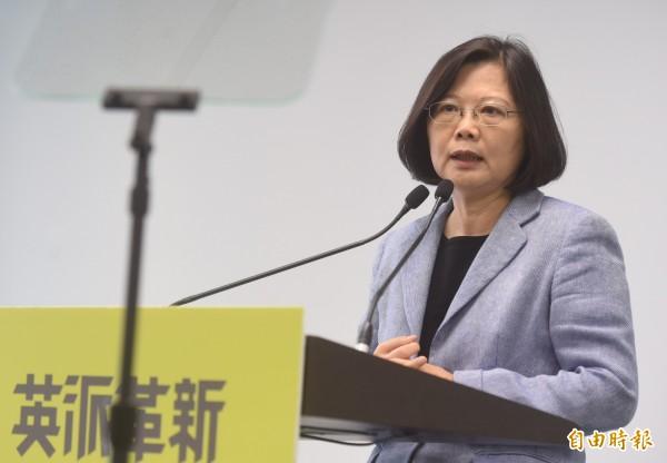 蔡英文於今日宣布「亞太生技醫藥研發產業中心」政策。(記者簡榮豐攝)