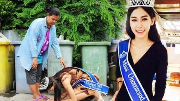 阿敏不畏出身貧寒,憑著自信奪得選美冠軍。(圖片擷取自Tribunnews)