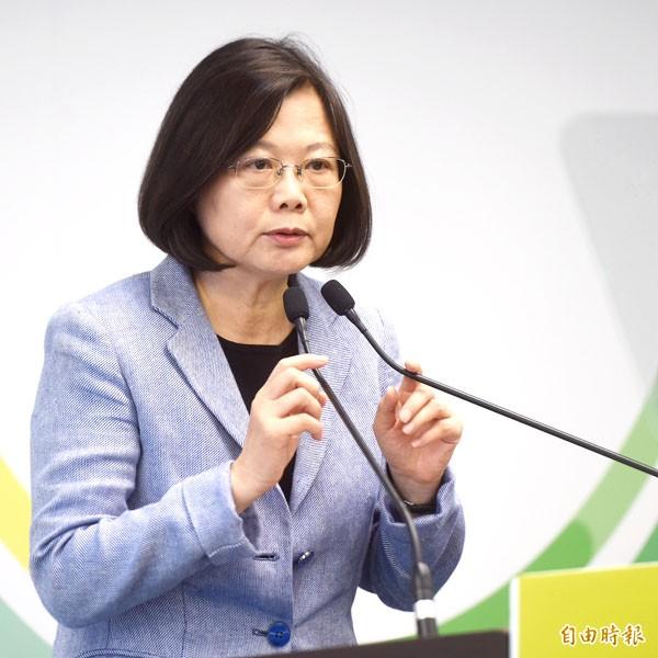 台灣智庫最新民調,蔡英文的支持度仍達48.1%。(記者簡榮豐攝)