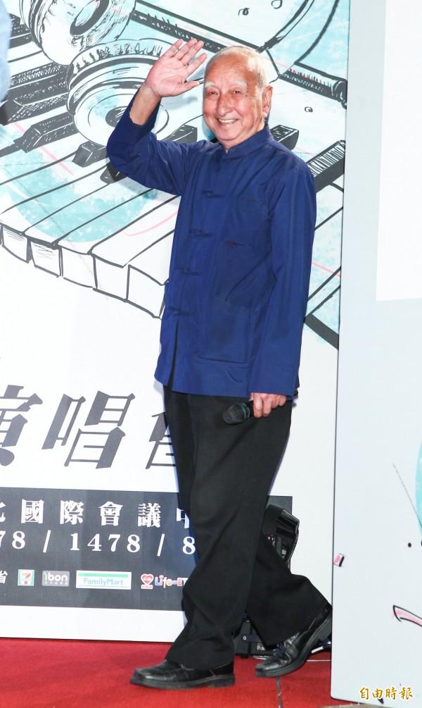 司馬中原(資料照,記者王文麟攝)