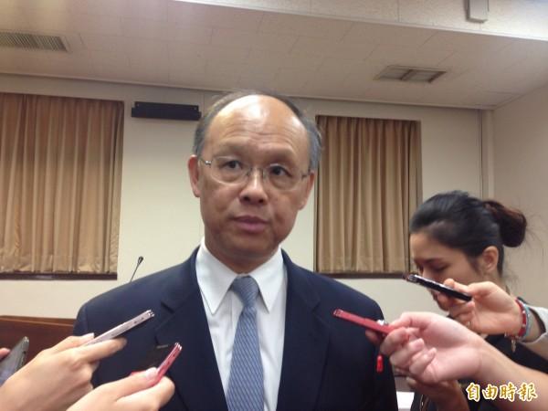 經濟部長鄧振中表示,馬習會召開,將對貨貿整體談判氣氛有幫助。(記者黃佩君攝)