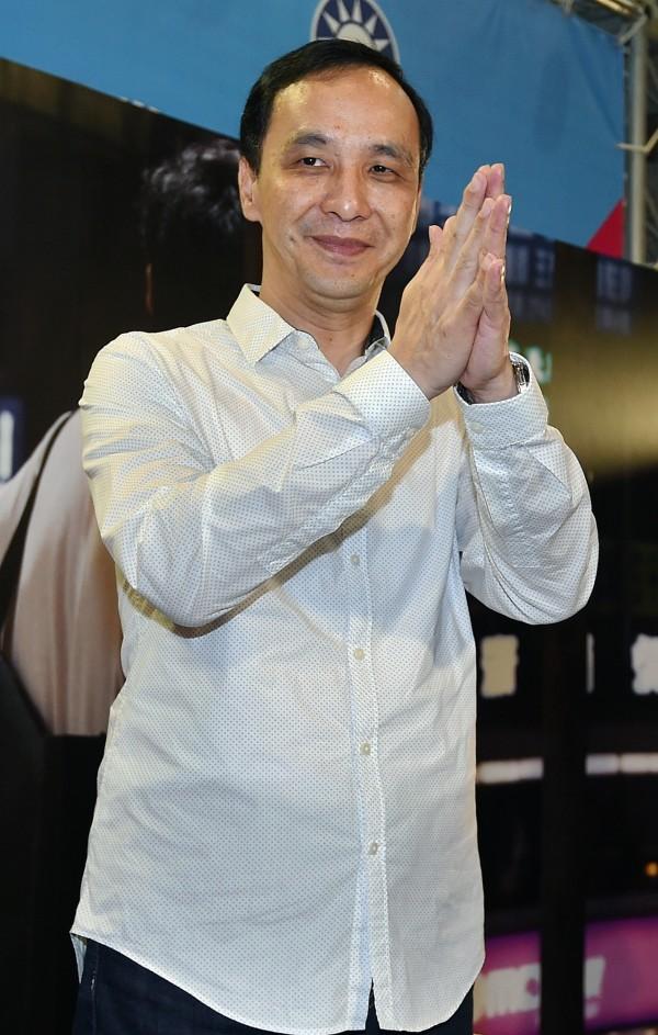 國民黨主席朱立倫表示,下次可以考慮改口叫他「都侖」。(資料照,記者廖振輝攝)