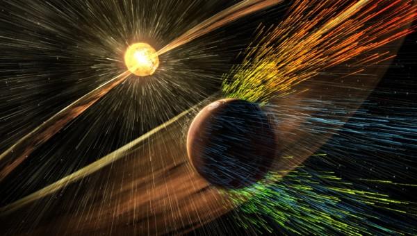 美國航太總署(NASA)表示火星氣候曾發生改變,其中肇因可能在於太陽風。(圖片擷取自NASA官網)