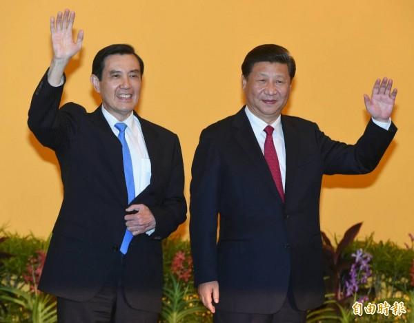 歷史性的「馬習會」,馬英九總統今天與中國國家主席習近平在新加坡香格里拉飯店會面。(記者廖振輝攝)