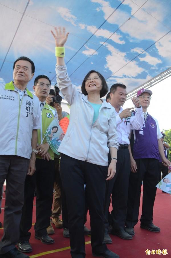 民進黨總統參選人蔡英文。(資料照,記者顏宏駿攝)