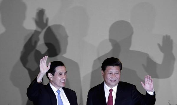 陸委會今早首度公布總統馬英九在「馬習會」正式會議談話逐字稿。(歐新社)