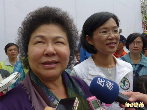 高雄市長陳菊這三天被追問馬習會相關後續效應,陳菊說,不受影響。(資料照,記者李雅雯攝)