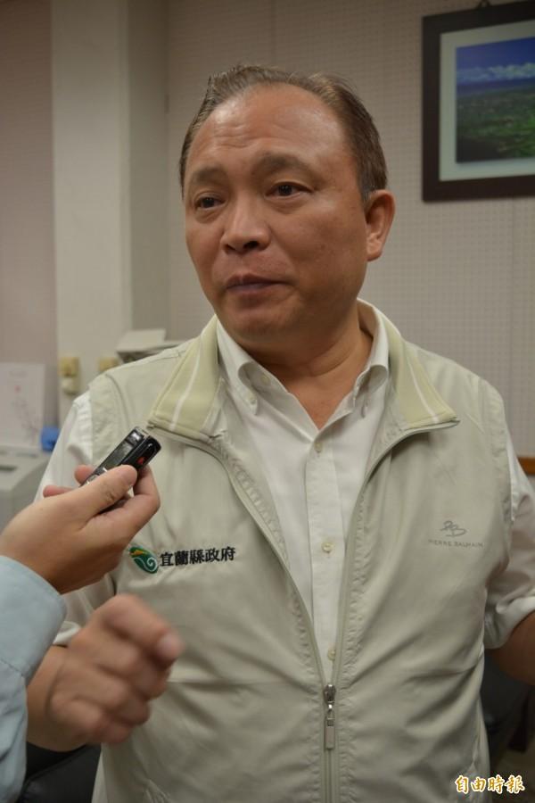 宜蘭縣長林聰賢宣示,請教育處研議教師的育嬰假,禁止在寒暑假復職。(記者游明金攝)