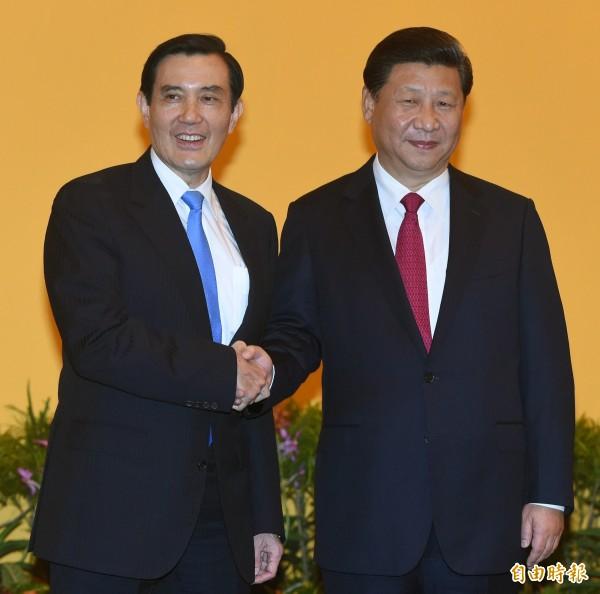 外界抨擊馬英九在「馬習會」只講「一中」,沒有講「各表」,但馬認為,他講的是一個中國的「原則」,而非「結論」(資料照,記者廖振輝攝)