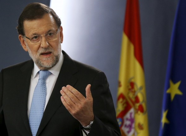 西班牙首相拉霍伊(Mariano Rajoy)痛批加泰隆尼亞獨派執政黨分裂國土。(路透社)